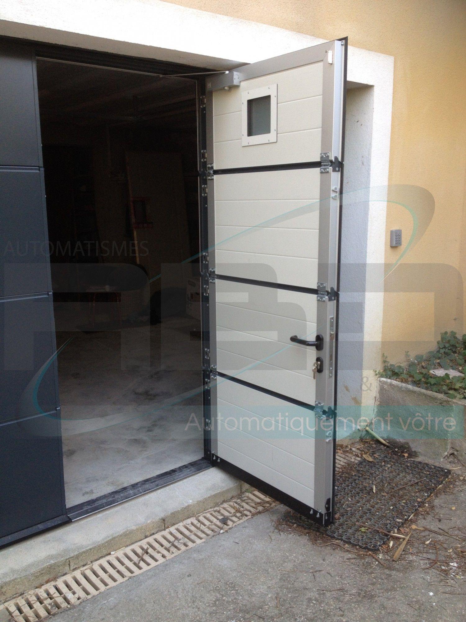 Porte De Garage Sectionnelle électrique Sur Mesure Ral 7016 Entre